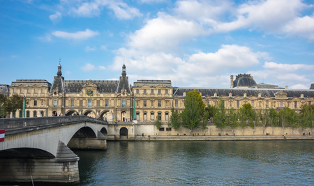 Louvre Museum is the world's largest museum and a historic monument in Paris, France
