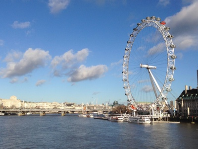 London eye in sunny day